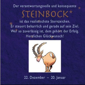 sternzeichen steinbock peter butschkow buch. Black Bedroom Furniture Sets. Home Design Ideas