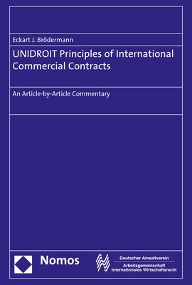 Unidroit Principles Of International Commercial Contracts An