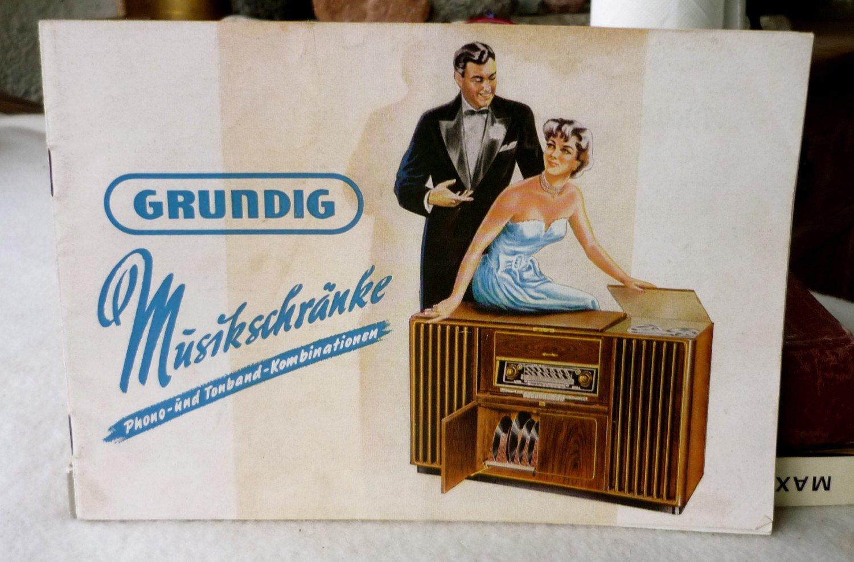"Grundig Musikschränke Phono- und Tonband- Kombinationen"" (Fa Grundig ..."