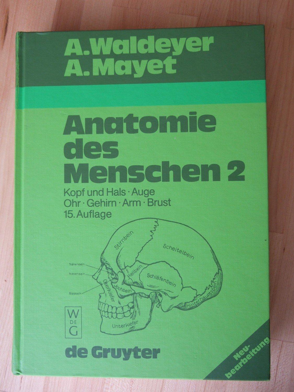 """Anatomie des Menschen 2 """" (Waldeyer Anton Mayet) – Buch gebraucht ..."""
