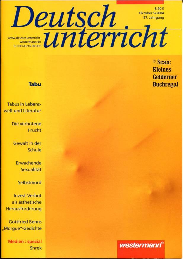 """Deutschunterricht 5/2004: TABU """" (pädagogisch-didaktische ..."""