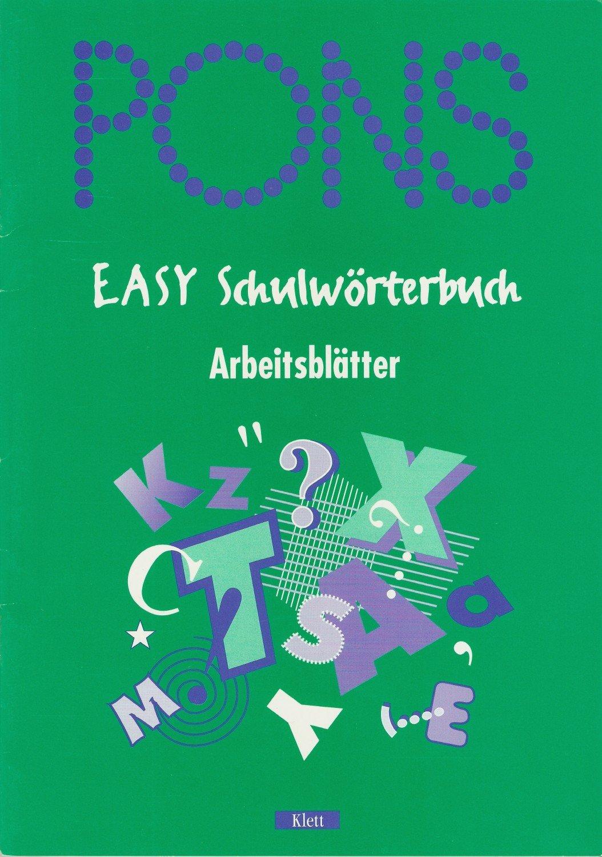 PONS Collins Easy Schulwörterbuch Arbeitsblätter mit LÖSUNGEN ...