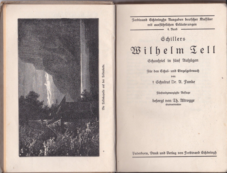 ... Schillers Wilhelm gebrauchtes Buch – Funke, Dr. A. Hsgr. –  Schillers Wilhelm ...