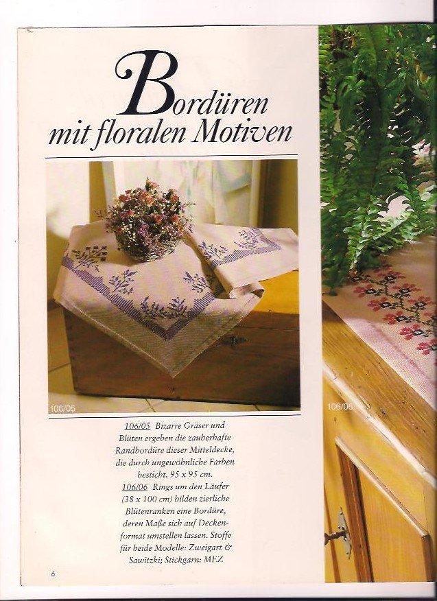 burda special Kreuzstich E 106 Über 80 neue Ideen - Bordüren ...
