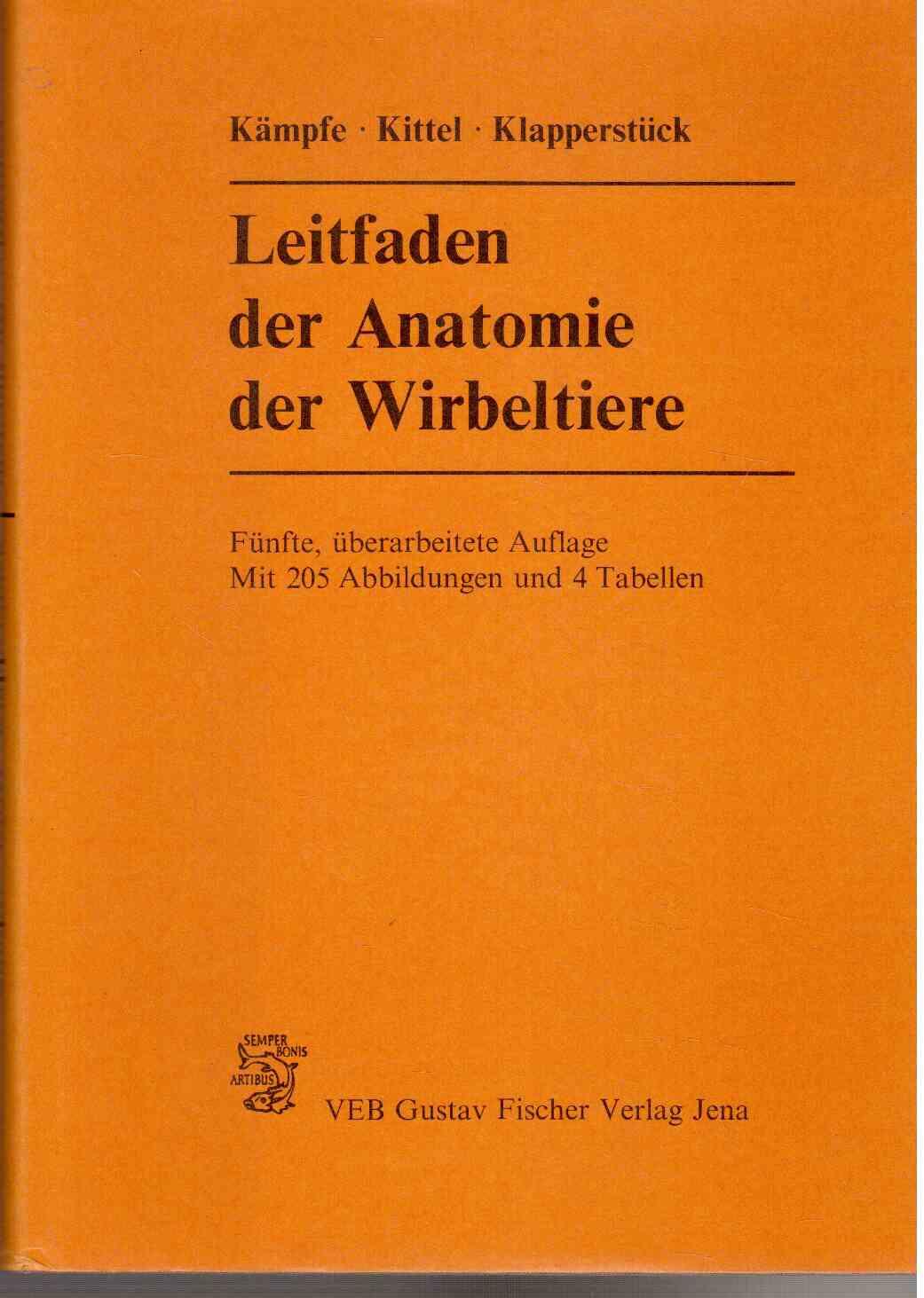 """Leitfaden der Anatomie der Wirbeltiere"""" (Kämpfe Lothar) – Buch ..."""