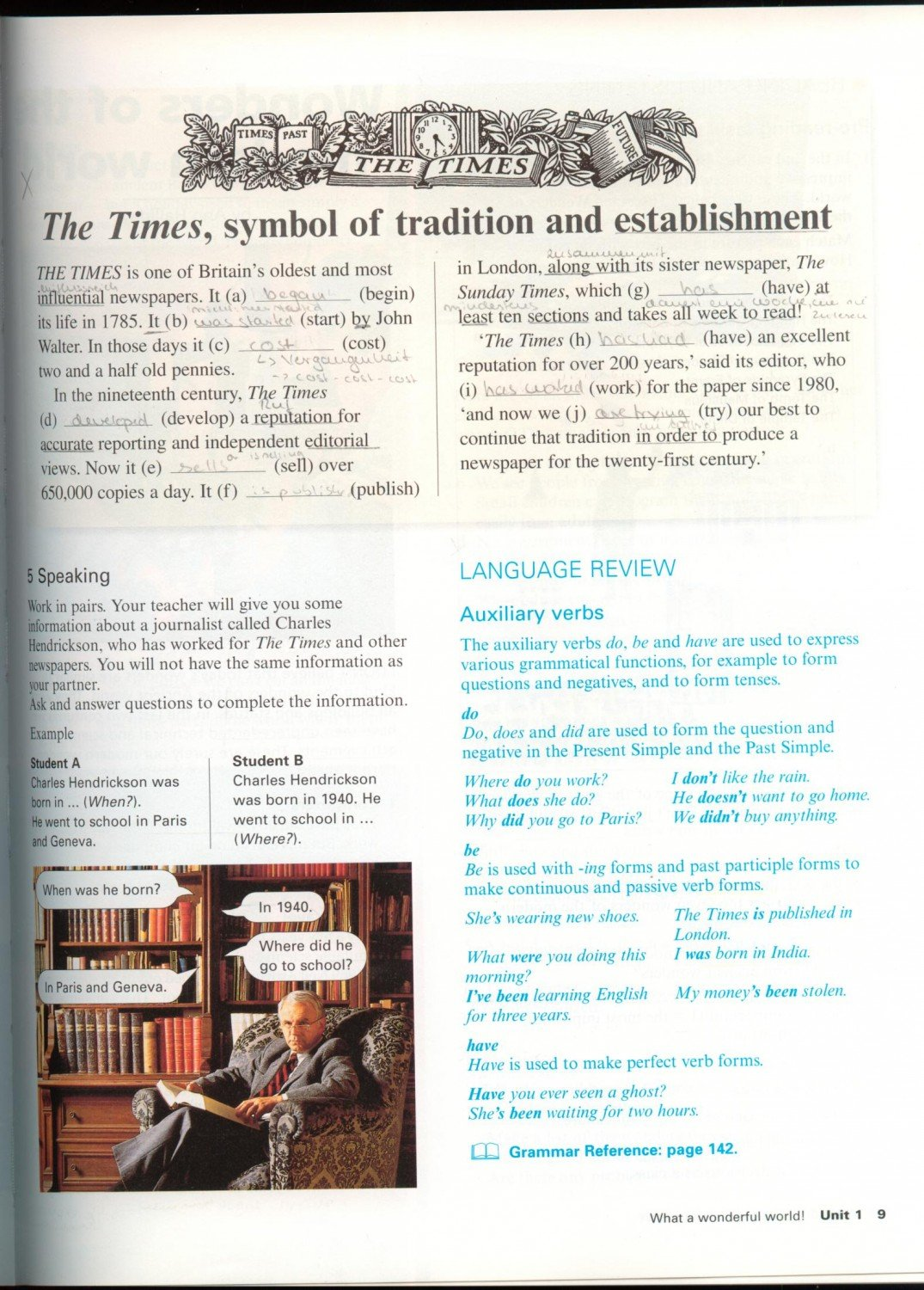 """New Headway English Course with English German wordlists """" Soars ..."""