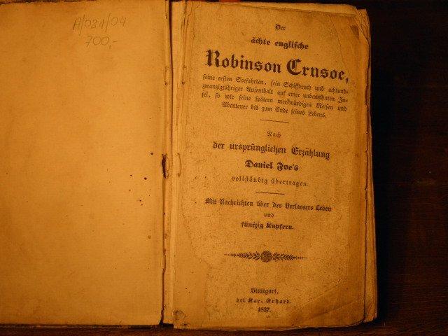 Hier Daniel Foe Der ächte Englische Robinson Crusoe Daniel Defoe