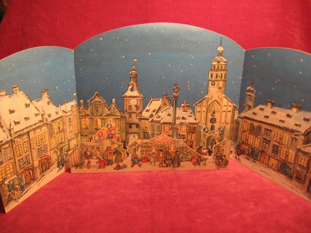 Alte Weihnachtskalender.Adventskalender Alte Stadt