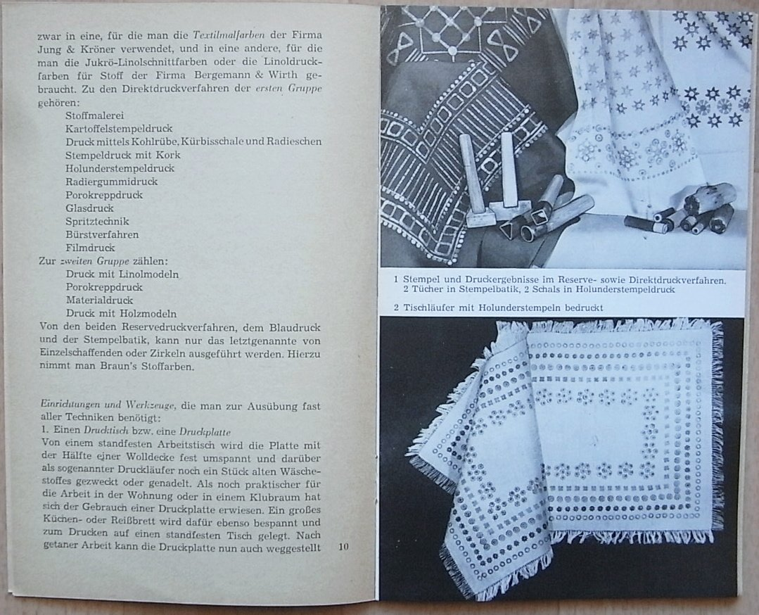 Stoffdruck Eine Praktische Anleitung Ingeborg Bohne Fiegert