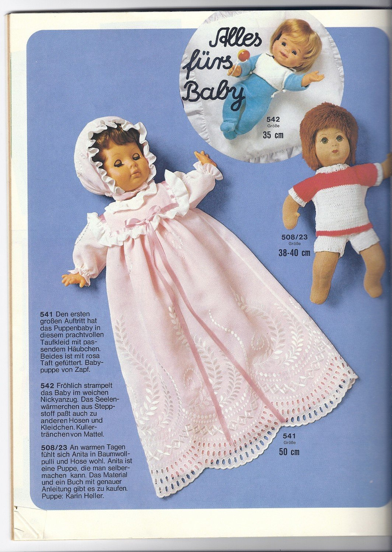 Burda Puppenmode Bestellnummer E 508 84 Modelle Zum Nähen Stricken
