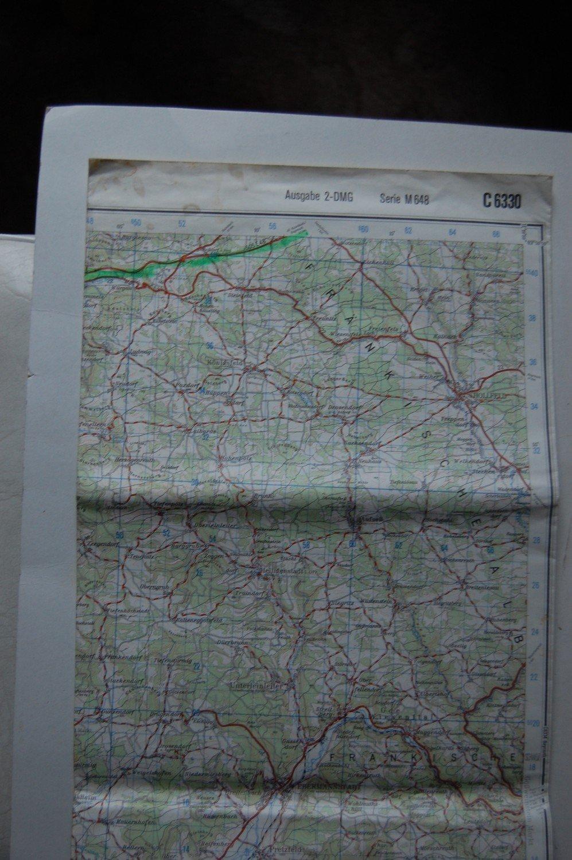 Karte Bamberg Landkarte.Karte Deutschland 1 100000 Bamberg C 6330 Ausgabe 2 Dmg