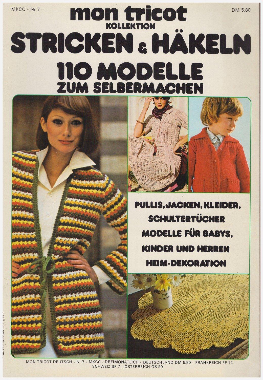 Mon Tricot Kollektion Stricken Häkeln 110 Modelle Zum