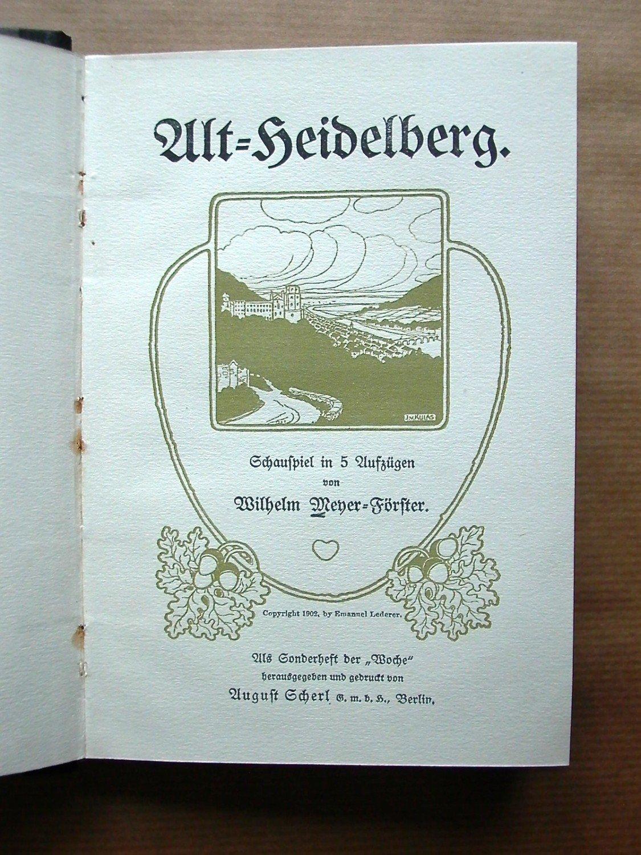 """Alt-Heidelberg"""" (Wilhelm Meyer-Förster) – Buch antiquarisch kaufen ..."""