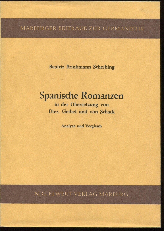 Isbn 3770805429 Spanische Romanzen In Der übersetzung Von Diez