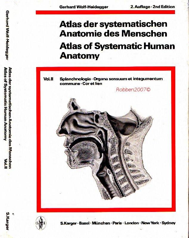 Atlas der systematischen Anatomie des Menschen Band 2 ...