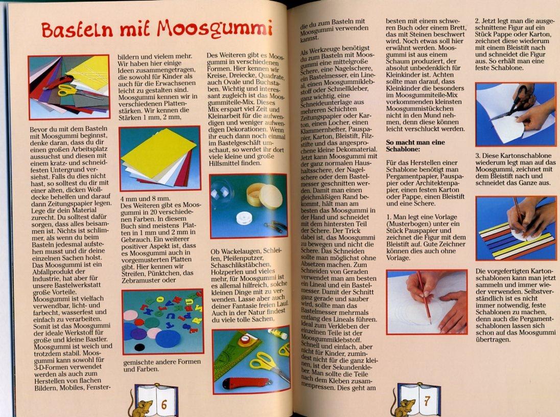 Kinder basteln mit Moosgummi ° Mit Schritt-für-Schritt-Anleitungen ...