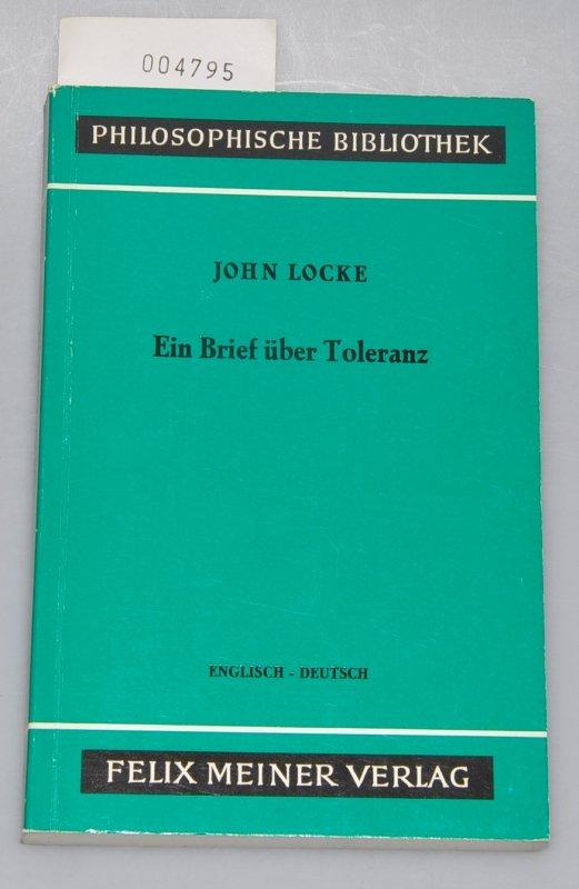 Ein Brief über Toleranz Englisch Deutsch Bücher Gebraucht