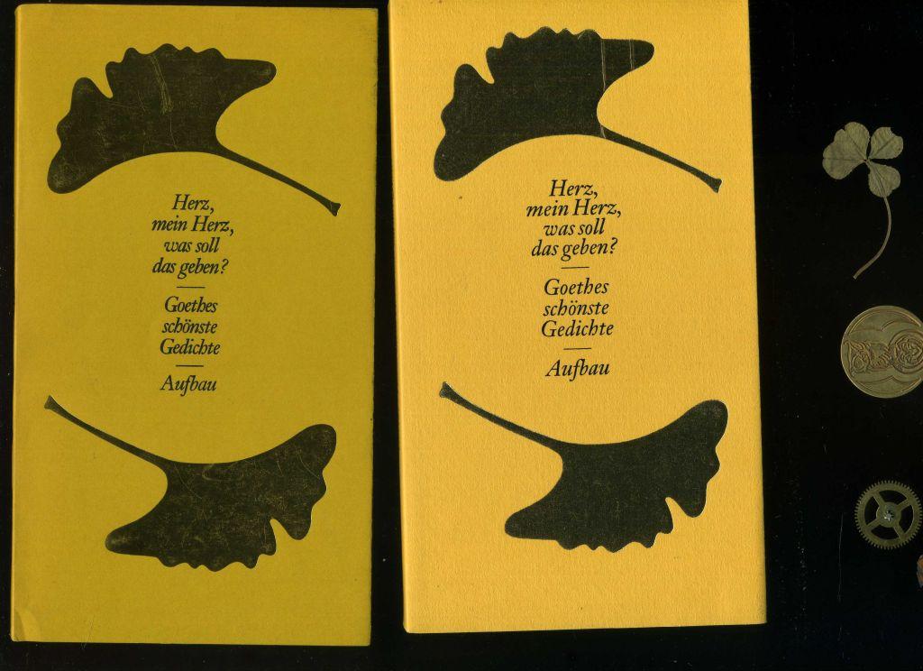 Goethe gedichte herz mein herz