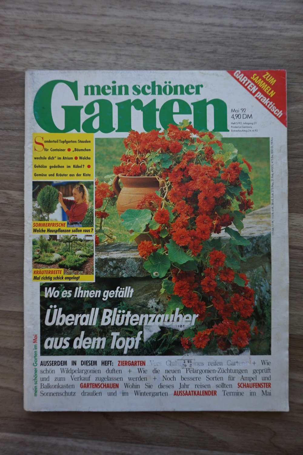 mein sch ner garten ausgabe mai 1992 buch gebraucht. Black Bedroom Furniture Sets. Home Design Ideas