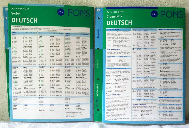 Auf Einen Blick Verben Und Grammatik Deutsch Von Pons 2