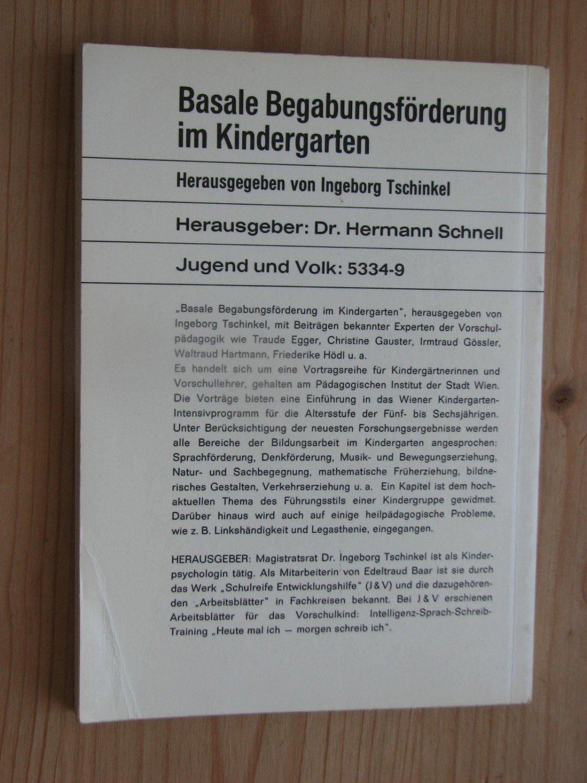 """Basale Begabungsförderung im Kindergarten"""" (Tschinkel Ingeborg ..."""