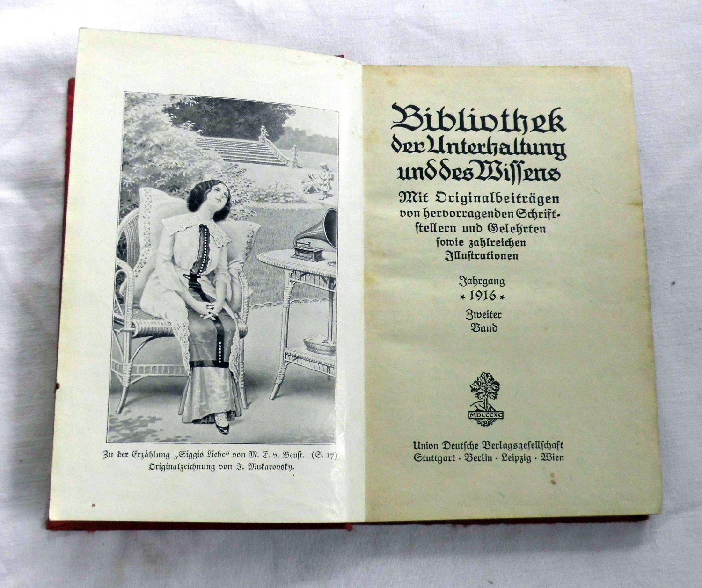 bibliothek der unterhaltung und des wissens 1916 band 2. Black Bedroom Furniture Sets. Home Design Ideas