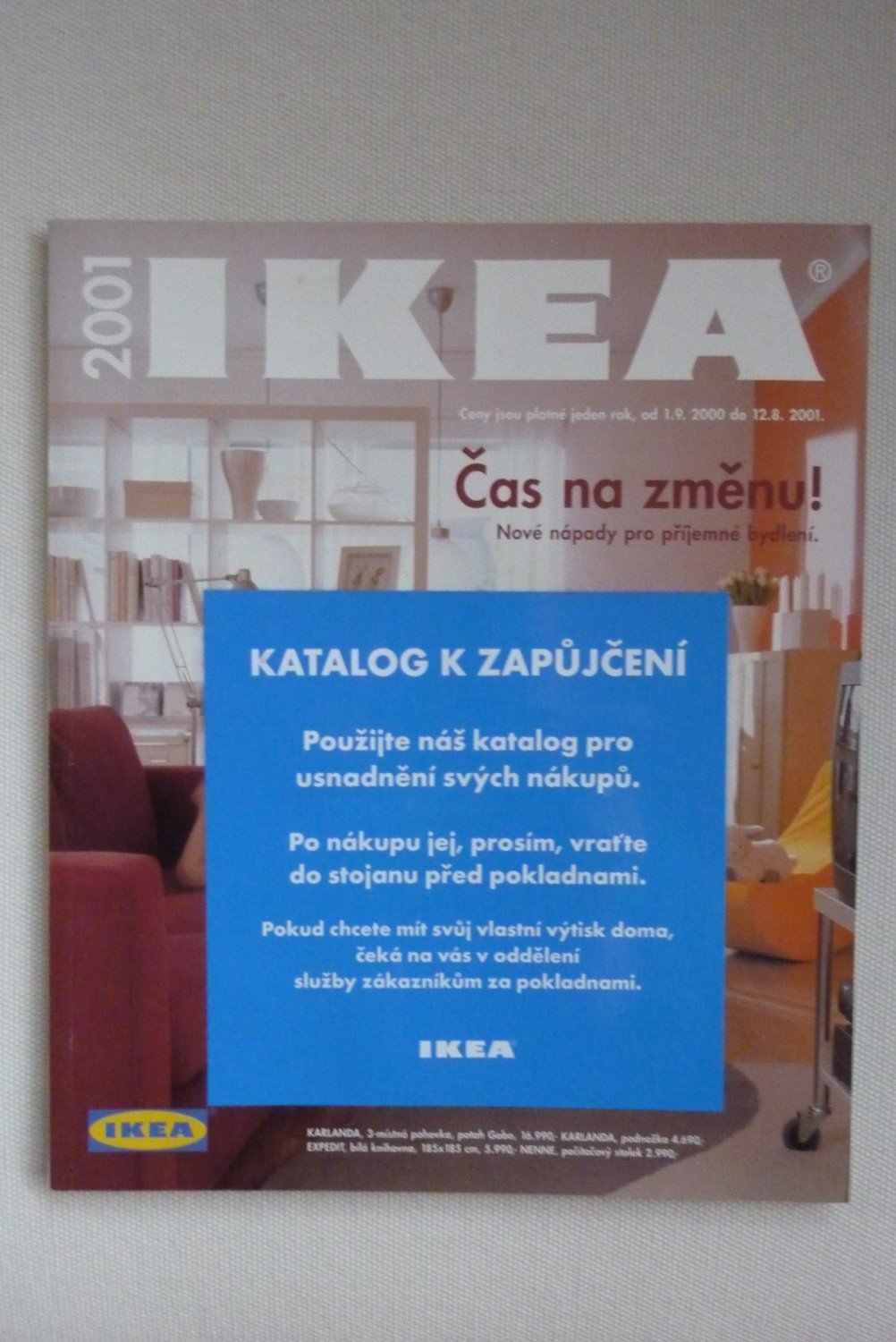 ikea katalog 2001 aus prag tschechien leihkatalog katalog buch gebraucht kaufen. Black Bedroom Furniture Sets. Home Design Ideas