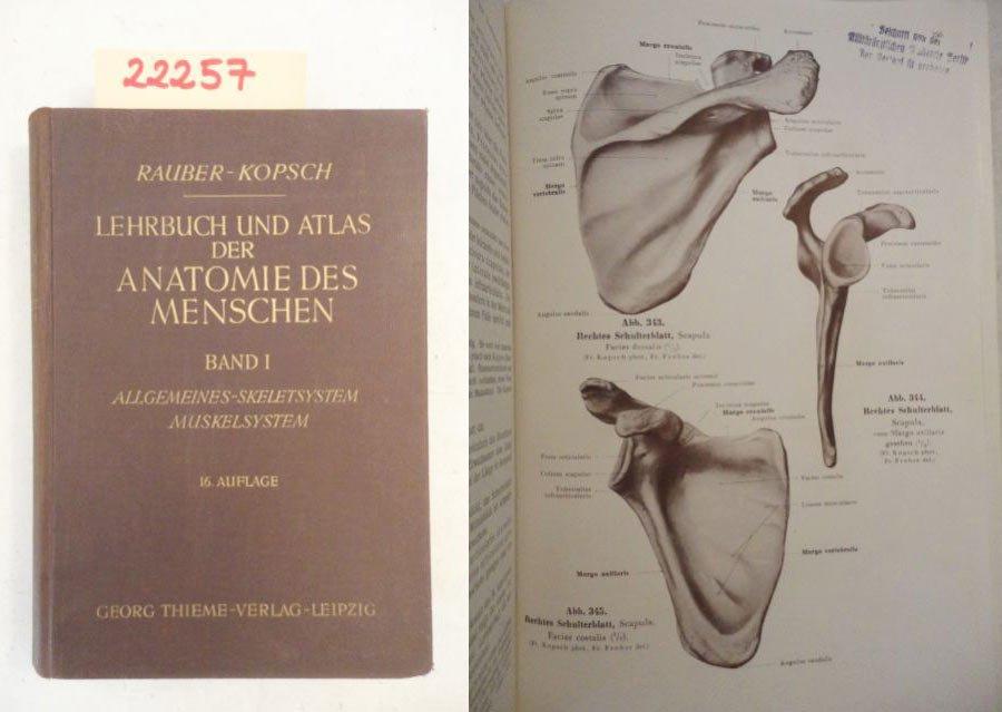 """Lehrbuch und Atlas der Anatomie des Menschen in drei Bänden"""" (Dr ..."""