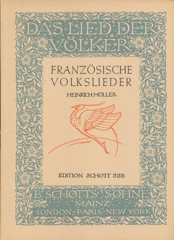 Französische Volkslieder  Gesang und Klavier Schott ED 555
