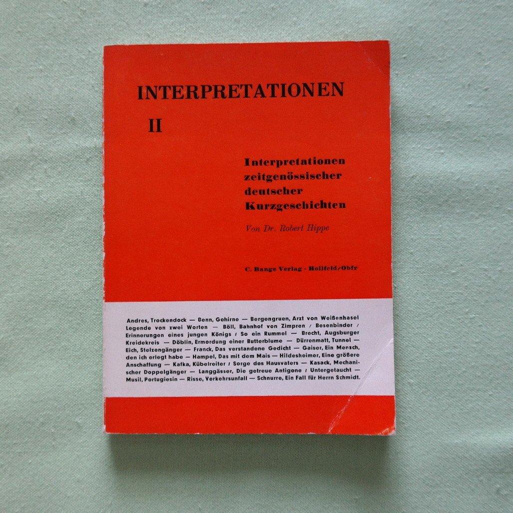 Interpretationen Ii Interpretationen Zeitgenössischer Deutscher