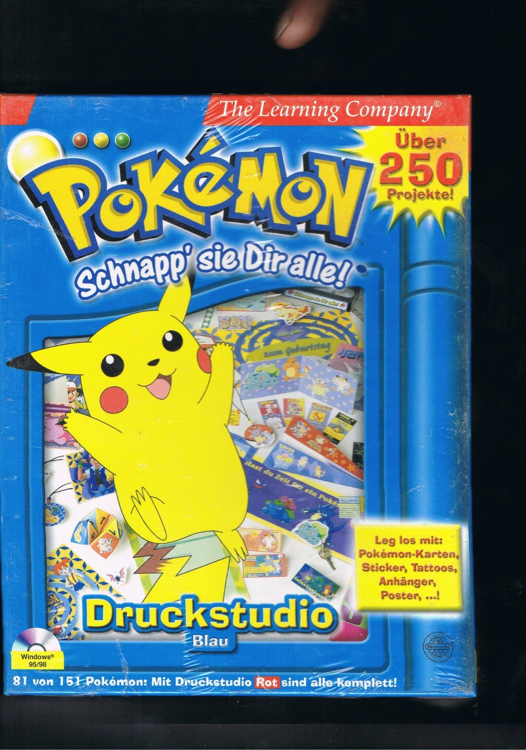 pokemon schnapp 39 sie dir alle nintendo 1995 1996 and 1998 nintendo spiel neu kaufen. Black Bedroom Furniture Sets. Home Design Ideas
