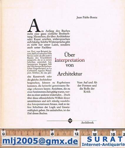über Interpretation Von Architektur Bücher Gebraucht