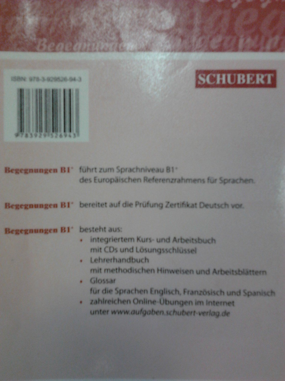 Begegnungen Deutsch als Fremdsprache B1+: Glossar - Englisch ...