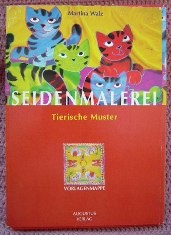 Seidenmalerei • Tierische Muster • Vorlagen Mappe mit acht Motiven ...