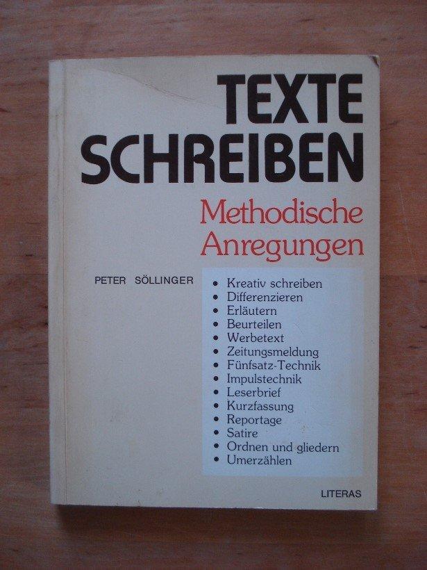 Söllinger Peter Texte Schreiben Methodische Anregungen Bücher