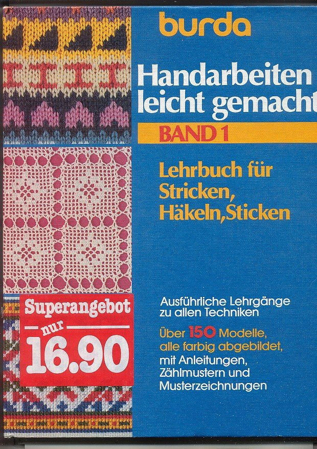 Burda Handarbeiten Leicht Gemacht Lehrbuch Für Stricken Häkeln