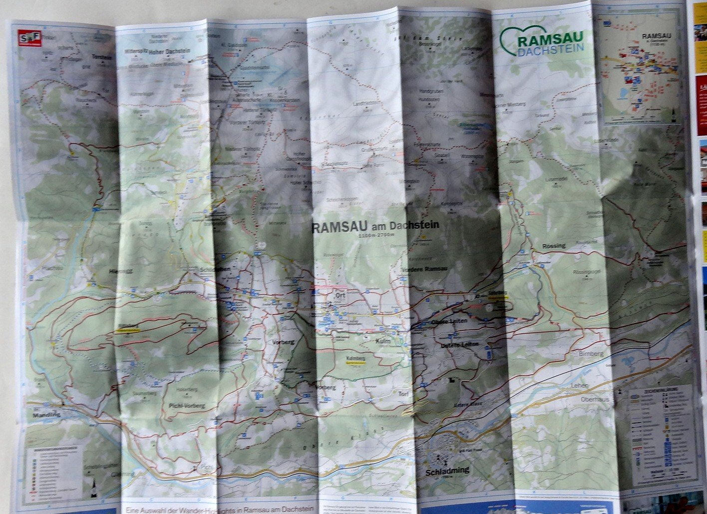 Wanderkarte ramsau 1:22500 inklusive panoramakarte