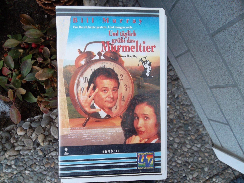 Und täglich grüßt das Murmeltier, Abenteuer-Komödie, Bill Murray, gut  erhaltene \