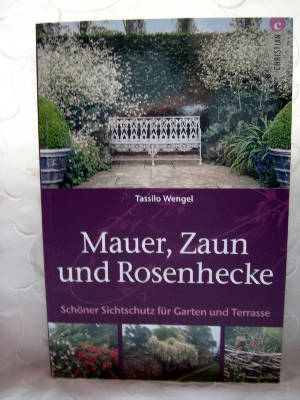 Mauer Zaun und Rosenhecke Schöner Sichtschutz für Garten und ...