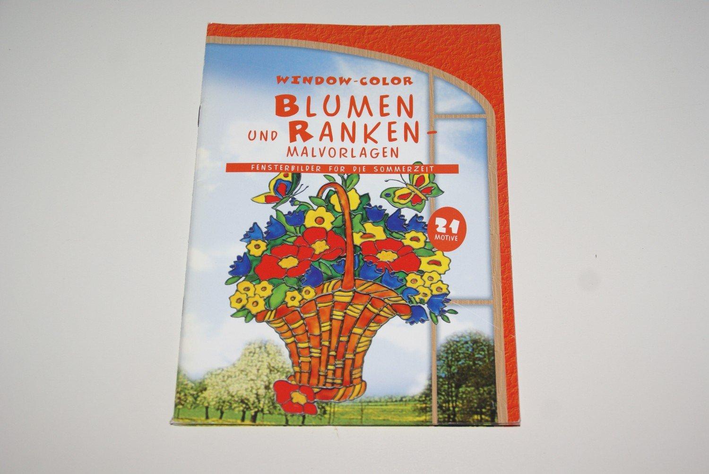 """Window-Color Blumen und Ranken - Malvorlagen"""" – Buch gebraucht ..."""