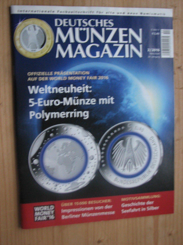 Deutsches Münzen Magazin Jahrgang 2016 Heft 1 Bis 5 Erzinger