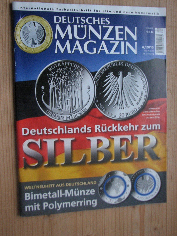 Deutsches Münzen Magazin Jahrgang 2015 Heft 1 Bis 6 Komplett