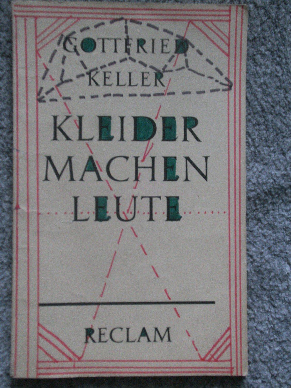 Gottfried Keller Kleider Machen Leute Bucher Gebraucht