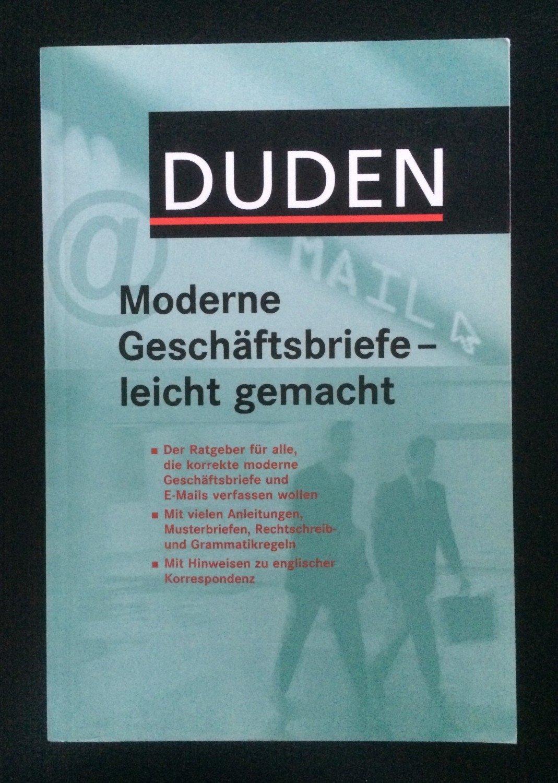 Duden Moderne Geschäftsbriefe Leicht Gemacht Buch Gebraucht