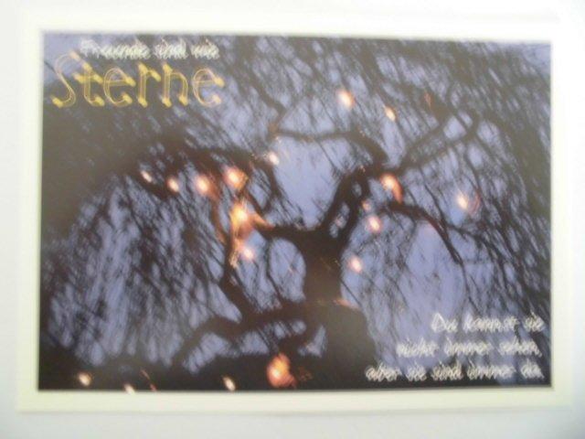 Grafik Werkstatt Weihnachten.Postkarte Grafik Werkstatt Freunde Sind Wie Sterne