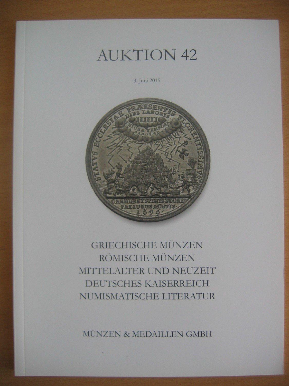Auktion 42 Münzen Medaillen Gmbh Buch Gebraucht Kaufen