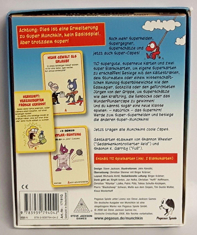 Super Munchkin 2: Coole Capes 2008 Pegasus Spiele 17191G - für ...