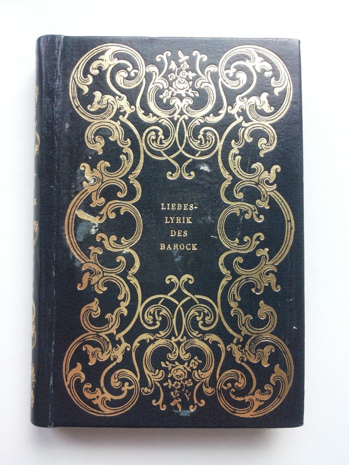 Liebeslyrik Des Barock Buch Gebraucht Kaufen A02ihkn601zz3