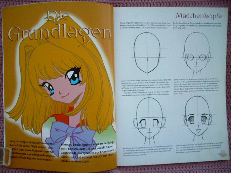 Shojo Mädchen Mangas Zeichnen Und Malen Anleitung Zum Gestalten