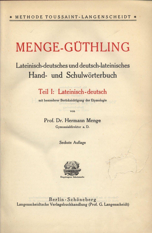 Menge-Güthling cover